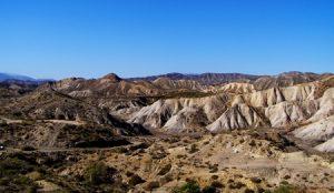 Paysage désertique en Andalousie